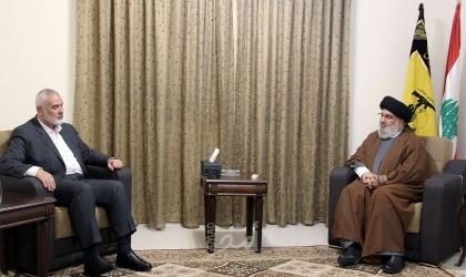 """هنية يلتقي نصر الله وأكدا عمق العلاقة القائمة بين """"حزب الله"""" و""""حماس"""""""