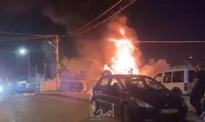 القدس: انفجار شاحنة وسيارة بحي العيساوية - فيديو