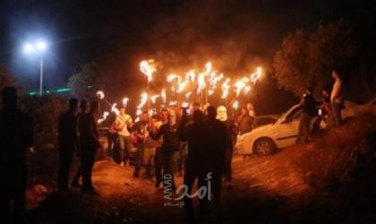 نابلس: استمرار فعاليات الإرباك الليلي في بلدة بيتا رفضًا لإقامة بؤرة استيطانية