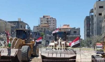 في خطوة مبشرة.. الطواقم المصرية تسلم برج الشروق لأشغال غزة