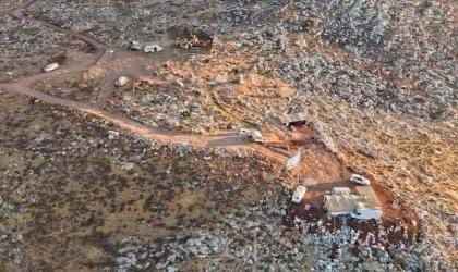 """نابلس: مستوطنون يقومون بأعمال توسعة وتجريف في أراضي """"بيت دجن"""""""