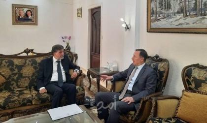 السفير عبد الهادي يطلع الممثل الخاص لبوتين في سوريا على آخر المستجدات في فلسطين