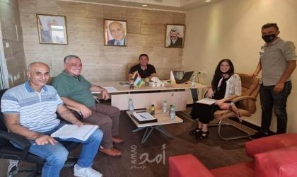 اتحاد السلة ومؤسسة خطوات برام الله يتفقان على ضرورة التعاون المشترك بينهما