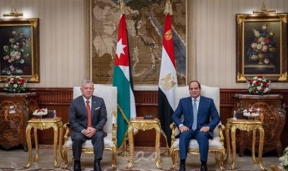 الرئيس المصري وملك الأردن يعقدان لقاءاً ثنائياً في القاهرة
