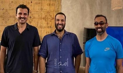 لقاء ودي يجمع  بن سلمان مع تميم و بن زايد..وتفاعل على مواقع التواصل