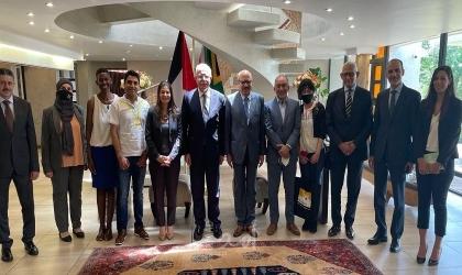 المالكي يلتقي رؤساء لجان التضامن مع الشعب الفلسطيني في جنوب إفريقيا
