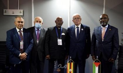 """وزير الخارجية الفلسطيني """"رياض المالكي"""" يلتقي نظيره الأوغندي"""