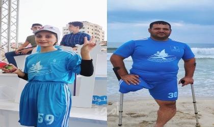 رياضة التجديفوالشراع بغزةتشق طريقها لتحاكي إصرارًا لممارسيها - فيديو وصور