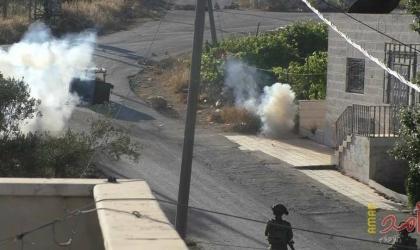 إصابات خلال مواجهات مع الاحتلال في باب الزاوية وسط الخليل