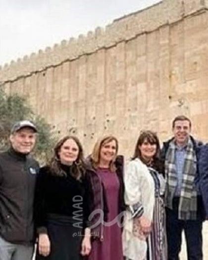 أعضاء بالكونجرس الأمريكي يتجولون في مستوطنات الضفة وغور الأردن