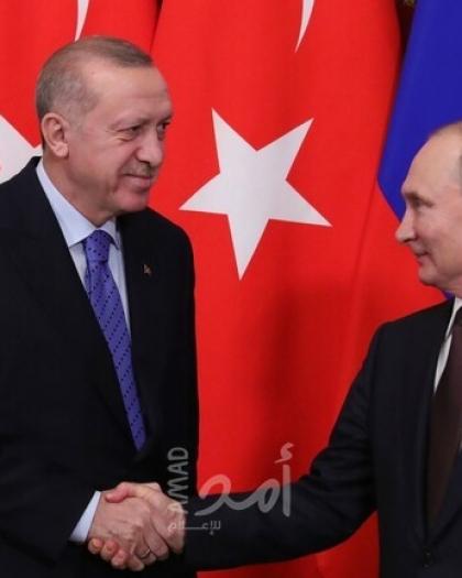 """بوتين وأردوغان يدشنان بناء وحدة الطاقة الثالثة لمحطة """"أكويو"""" النووية"""