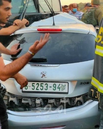 قلقيلية: استشهاد 4 فلسطينيين جراء صدم باص للمستوطنين سيارتهم قرب قرية عزون