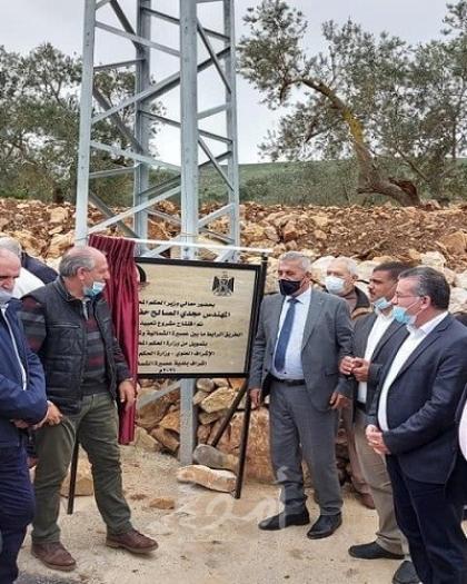 وزير الحكم المحلي يفتتح الشارع الشرقي الرابط بين عصيرة الشمالية وشرق نابلس