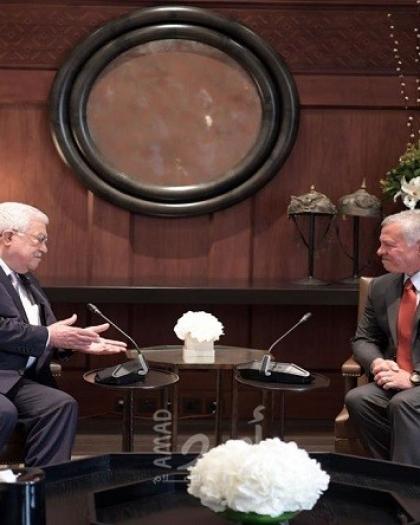الرئيس عباس وملك الأردن يبحثان أخر التطورات والعلاقات الفلسطينية الأردنية