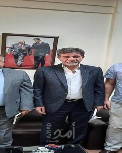 السفير عبد الهادي يستقبل مدير عام مؤسسة القدس الدولية
