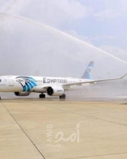 هبوط أول رحلة تجارية مصرية في إسرائيل