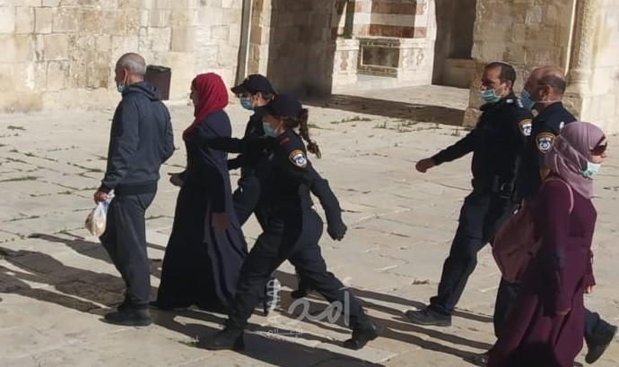 اعتقال الصحفية سندس عويس- الاقصى